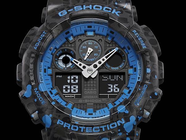 設計原型選用G-SHOCK超人氣指針數位雙顯 GA-100