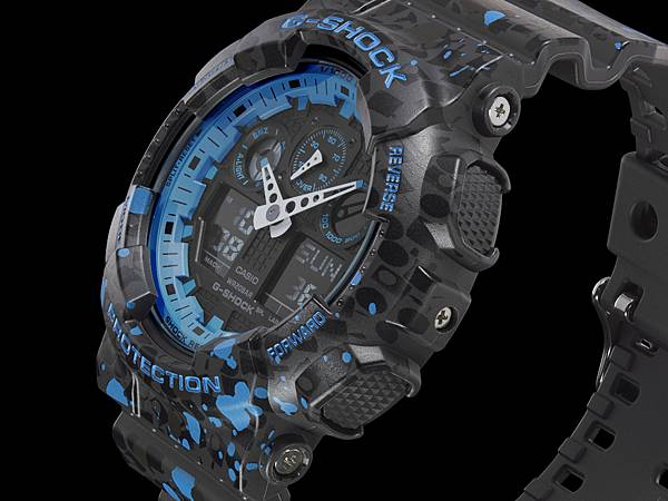錶款以黑藍兩色為主