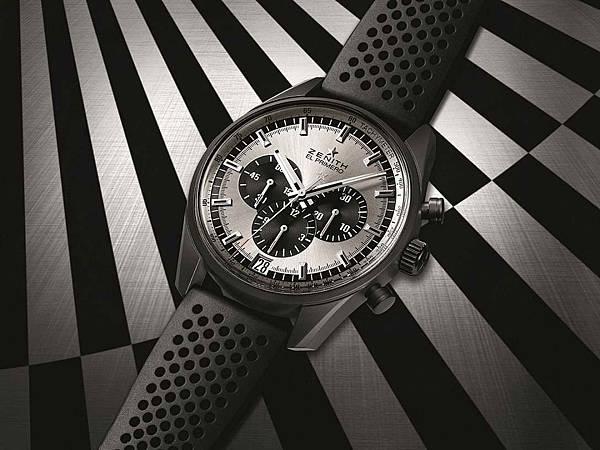 ZENITH El Primero 36,000 VpH腕錶銀白色面盤款情境圖。