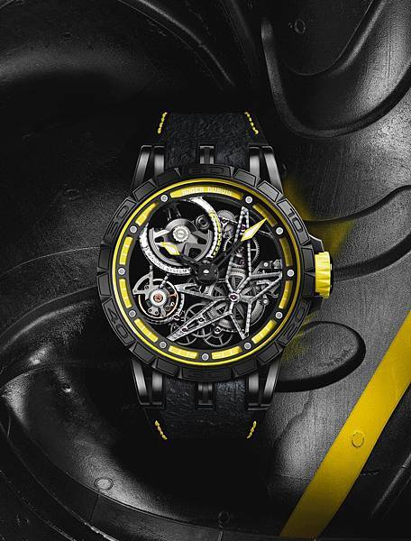 Excalibur Spider Pirelli 自動上鏈鏤空腕錶黃NT.2,160,000 (1)