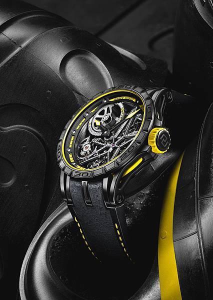 Excalibur Spider Pirelli 自動上鏈鏤空腕錶黃NT.2,160,000 (2)