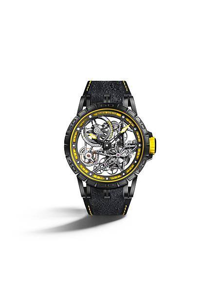 Excalibur Spider Pirelli 自動上鏈鏤空腕錶黃NT.2,160,000 (3)
