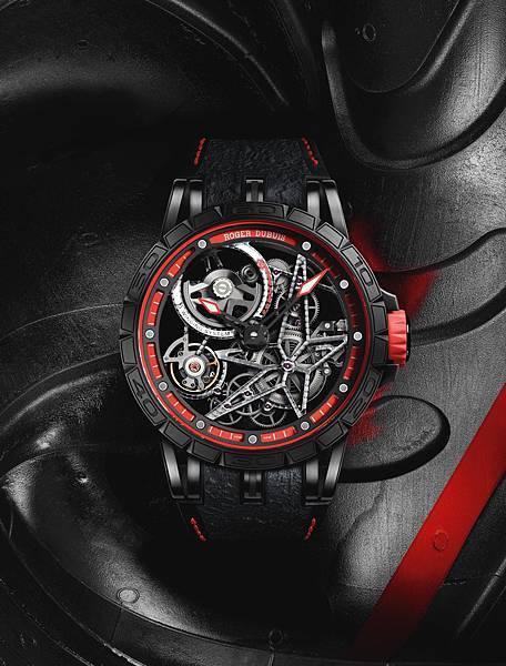 Excalibur Spider Pirelli 自動上鏈鏤空腕錶紅NT.2,160,000 (2)