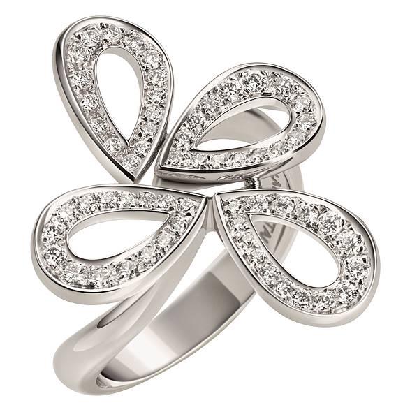 107963 萬寶龍摩納哥葛莉絲王妃系列高級珠寶玫瑰花瓣四片花瓣鑽石戒指,NT$155,700