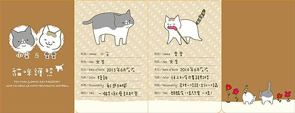 我家的貓又在幹怪事了。(1)_附錄貓咪護照