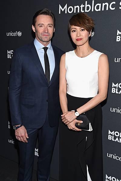 萬寶龍品牌大使休傑克曼(Hugh Jackman)、港星梁詠琪出席萬寶龍UNICEF聯合國兒童基金會系列限量商品紐約發表會