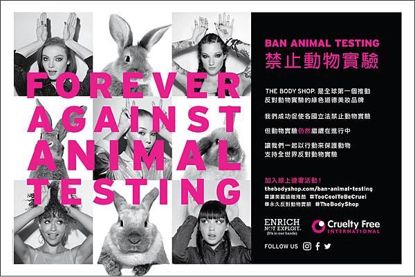 反對動物實驗主視覺