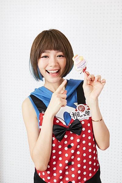 林明禎向6月的生日月進行「Change挑戰」,蛋糕上還有自己專輯的專輯名稱!