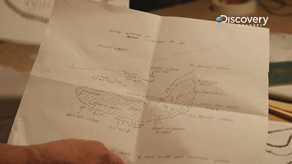 葛登遺留下來的手稿地圖 可能是百年寶藏的線索