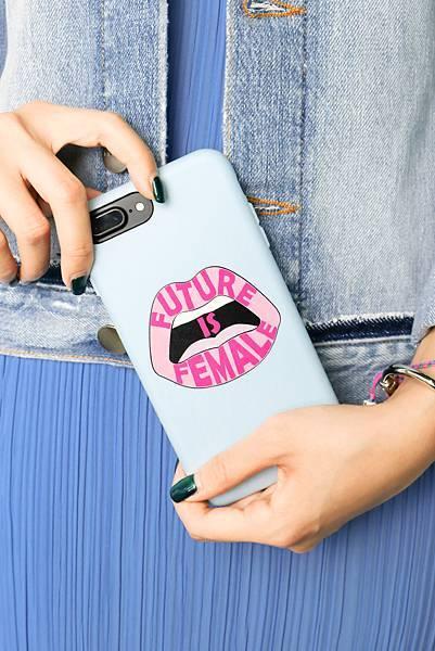 粉藍限量手機殼