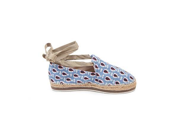 Jil Sander Navy_花朵造型藍色厚底鞋_NT7180