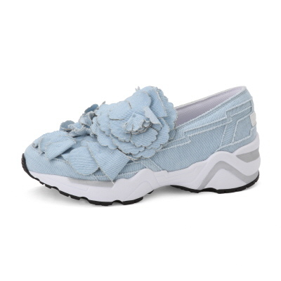 Suecomma Bonnie 藍色花朵裝飾運動鞋NT-13800