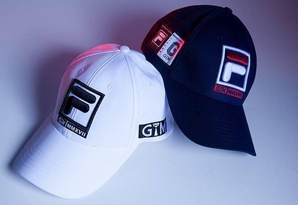 圖7.FILA X GTM 2017聯名系列帽款將專屬聯名織標繡刺於兩側,兼具街頭潮流與運動動感個性