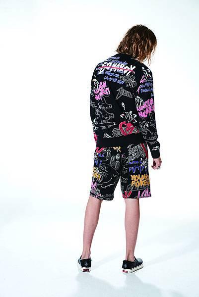 Ed Hardy 新龐克時代系列衛衣(Model背面) $12,890