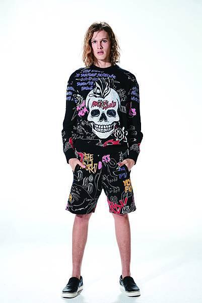 Ed Hardy 新龐克時代系列衛衣(Model正面) $12,890