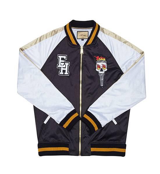 Ed Hardy 火把骷髏頭棒球外套(正面) $23,800