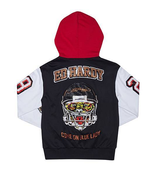 Ed Hardy 橄欖球連帽外套(背面) $18,080