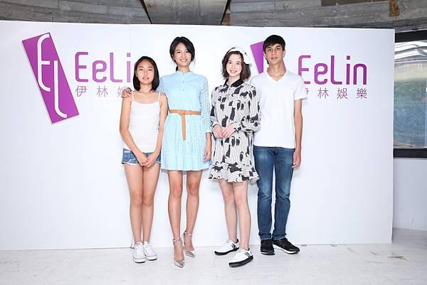 圖6.左起 陳詠芹、名模陳詠芯、藝人金凱德、金艾德(伊林娛樂提供)