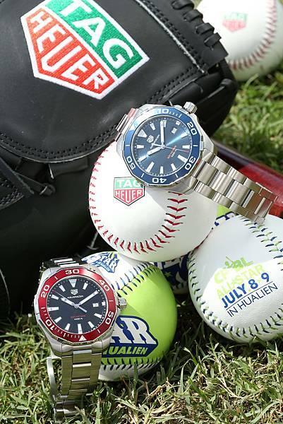 TAG Heuer及CPBL棒球套組與TAG Heuer Aquaracer腕錶