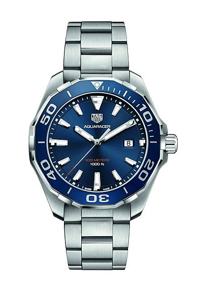 TAG Heuer Aquaracer防水300米腕錶藍色錶圈款_WAY101C.BA0746_建議售價NT$54,500