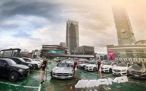Mercedes-AMG 性能大軍車聚於7月9日登場,共計101輛AMG極致性能猛獸齊聚一堂,與台北101地標相呼應