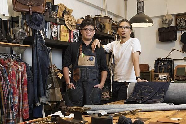 (左起)WOOTP窩台北楊宗霈Sosa Yang 、丹寧、皮件達人 SFK Kurt