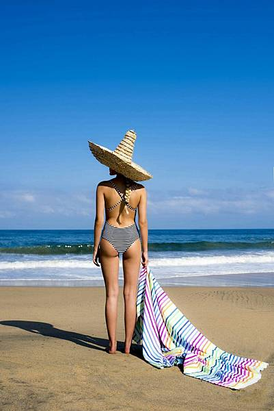 Las Bayadas-LA IRIS 流蘇海灘巾$2,600