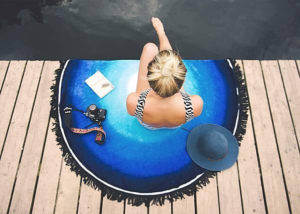 Vagabond-迷樣藍湖海灘巾$3,580 (2)