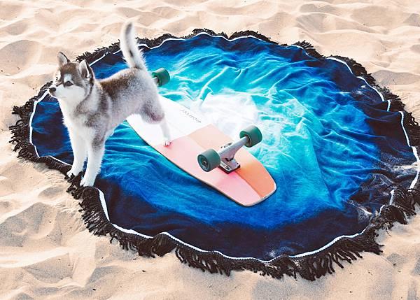 Vagabond-迷樣藍湖海灘巾$3,580 (3)