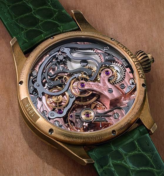 萬寶龍1858系列測速計時碼錶-Only Watch 17錶背鐫刻特殊文字「Unique Piece-Only Watch 2017」