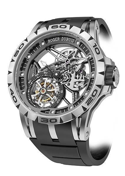 EXCALIBUR Spider 45 王者之劍系列鏤空飛行陀飛輪腕錶 NT.5,085,000 (1)