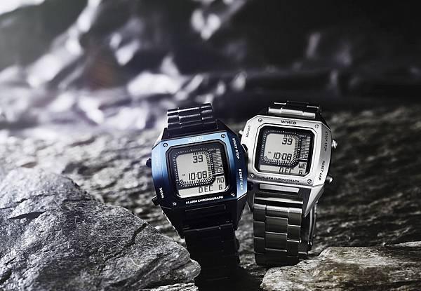 WIRED X BEAMS聯名錶款復刻80年代流行電子錶,保留電子錶經典元素並融合現代感的金屬質調,展現個性十足的風格。
