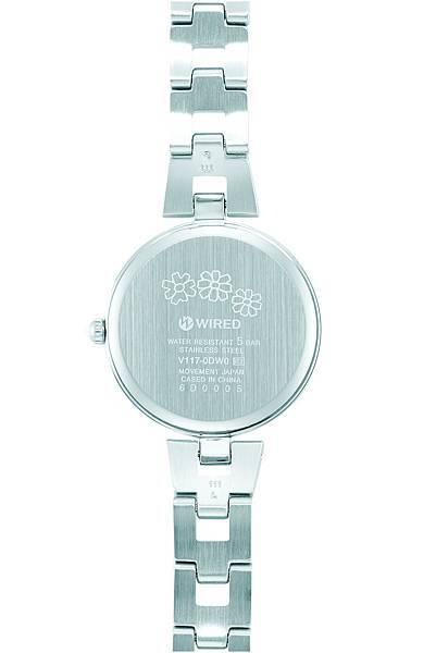 WIRED f X布川愛子限定款,錶款背面刻有可愛的花朵圖案,療癒感十足。