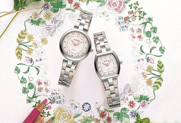 WIRED f與布川愛子首度合作聯名錶款,以柔和的筆觸及溫暖畫風,營造浪漫可愛的氛圍。