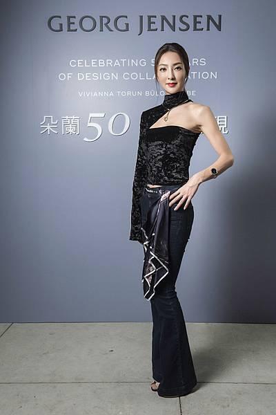 時尚名人吳速玲出席GEORG JENSEN「朵蘭50 經典再現」特展開幕派對