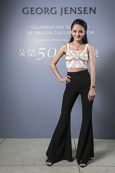 時尚名媛夏黃廉盈出席GEORG JENSEN「朵蘭50 經典再現」特展開幕派對
