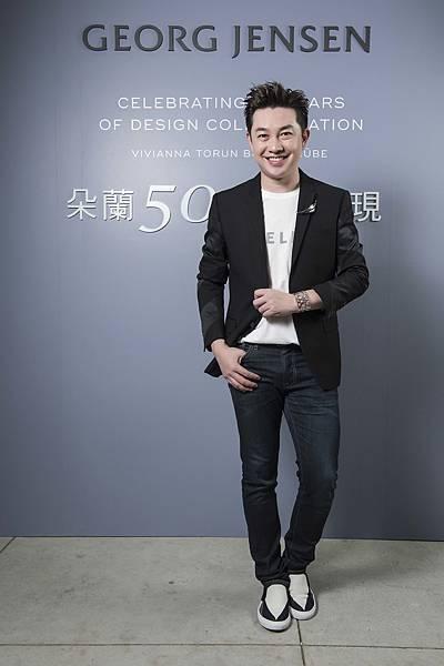 知名造型師李明川出席GEORG JENSEN「朵蘭50 經典再現」特展開幕派對