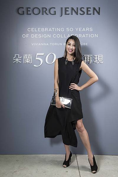 時尚名媛黃景俐出席GEORG JENSEN「朵蘭50 經典再現」特展開幕派對