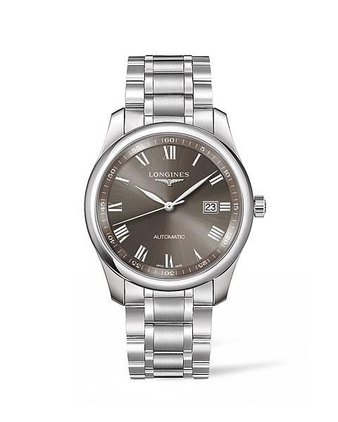 Longines 浪琴表巨擘系列曜石灰不銹鋼腕錶 (L2.793.4.71.6),錶徑40毫米,建議售價 NT$65,000