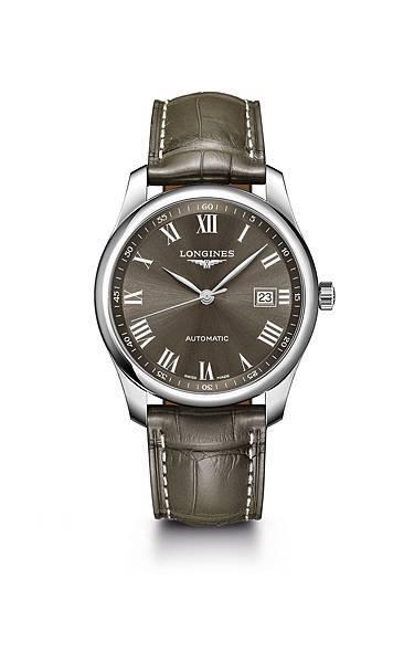 Longines 浪琴表巨擘系列曜石灰鱷魚皮腕錶 (L2.793.4.71.5),錶徑40毫米,建議售價 NT$65,000