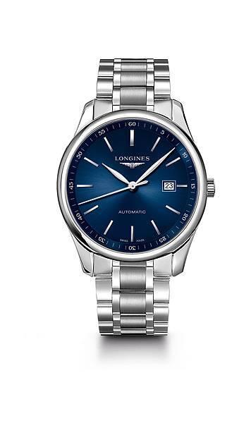 Longines 浪琴表巨擘系列午夜藍不銹鋼腕錶 (L2.893.4.92.6),錶徑42毫米,建議售價 NT$67,400