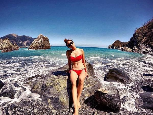Voda Swim-兩穿式平口美胸紅色比基尼上身$3,390_Angelina