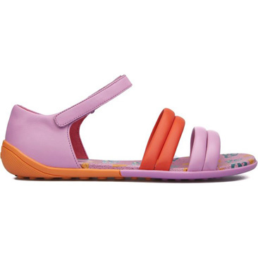CAMPER Peu Circuit 粉紅加橘涼鞋,特拍售價NT$4,500 (女)