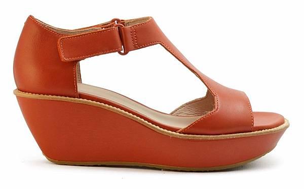 CAMPER Damasi橘紅高跟涼鞋,特拍售價NT$3,000 (女)