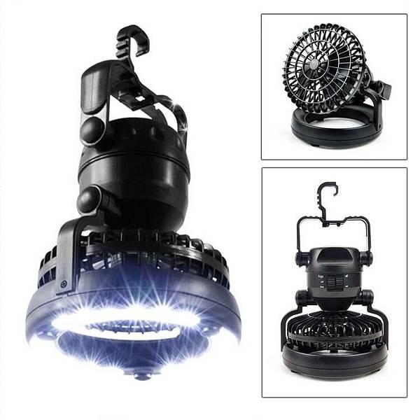 蝦皮拍賣嚴選防颱商品 「多用途風扇LED帳篷燈」擁有高強度照明及風扇功能 停電也不怕
