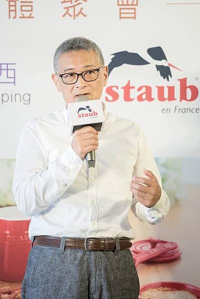 【圖三】德國雙人集團台灣子公司總經理朱志偉表示透過此次與udn買東西合作,雙方結合線上與線下的跨界組合,期待在新零售市場中,共同為消費者打造獨具品味與生活溫度的購物氛圍