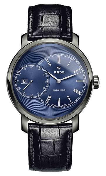 Rado DiaMaster鑽霸系列Grande Seconde電漿高科技陶瓷自動腕錶_藍面_建議售價NTD96,500