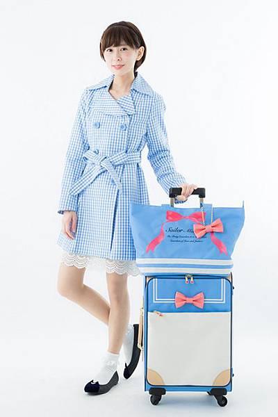 【新聞附件3】美少女系列登機箱行李包
