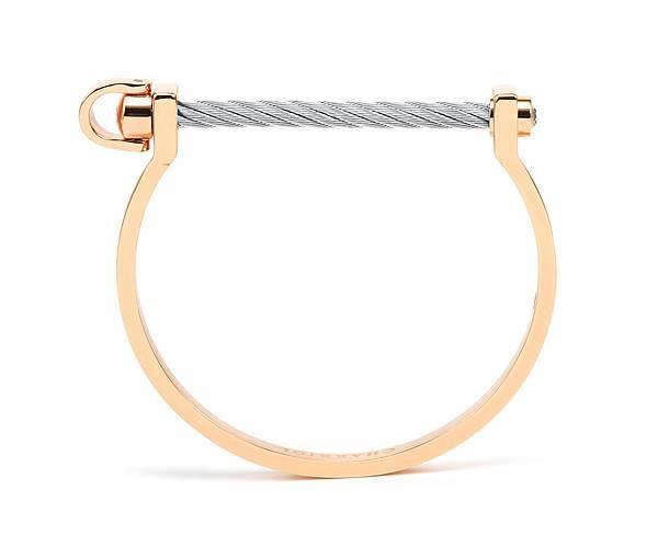 圖4_ PONT D'AMOUR系列手環玫瑰金款(銀色閂鎖),建議售價NT8,000