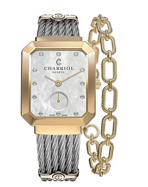 圖1_ ST-TROPEZTM Mansart系列錶款(鍍黃金錶圈款),建議售價NT78,400